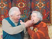 Elderly man and elderly woman — Stock Photo