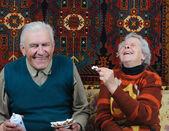 Two smiling senior — Stock Photo