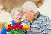 Pair elderly — Stock Photo