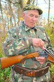 Hunter load rifle — Stock Photo