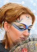 Mujer con máscara de carnaval — Foto de Stock