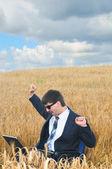 Work in field — Stock Photo