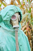 Man in gas-mask — Stock Photo
