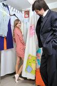 Encaixe nas roupas — Foto Stock