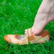 Nice summer shoes — Stock Photo