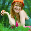 Stock Photo: Girl in bonnet
