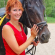 Beautiful girl with horse — Stock Photo #8913200