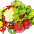 Stock Photo: Many vegetables from garden