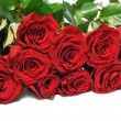 Big bouquet red roses — Stock Photo #8914273