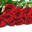 Stock Photo: Big bouquet red roses