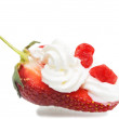 Ripe strawberry with tasty cream — Stock Photo #8914537