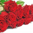 Nice bouquet red roses — Stock Photo