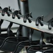 Stock Photo: Row rack upward