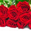 Big bouquet red roses — Stock Photo