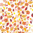 Stock Photo: Whirled fall leafs on white background