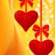 Holiday background with two hearts — Stock Photo