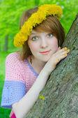 Nice girl in diadem — Stock Photo