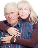 Senior father with his daughter — Stock Photo