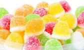 Pile from fruit candy on background — Stock Photo