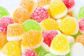 Heap from fruit candy — Stock Photo