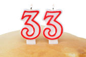Two candle in slapjack — Stock Photo