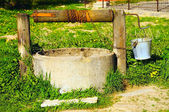 Village well in summer — Stock Photo