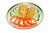 鱼酥和蔬菜 — 图库照片