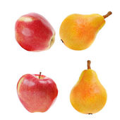 Yellow pears and red apples — Stock Photo