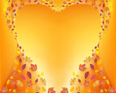 Heart of fall leafs — Stock Photo