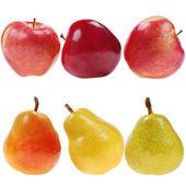 Jablka a hrušky — Stock fotografie