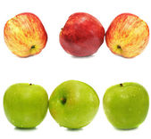 Fresh colorful apples — Stock Photo