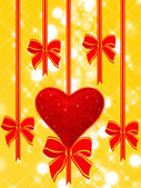 Holiday background with heart — Stock Photo