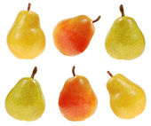 Red, green and yellow pears — Stock Photo