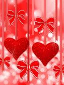 Two read hearts — Stock Photo