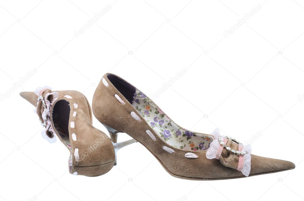 Pretty woman shoes on isolated background — Stock Photo #8914168