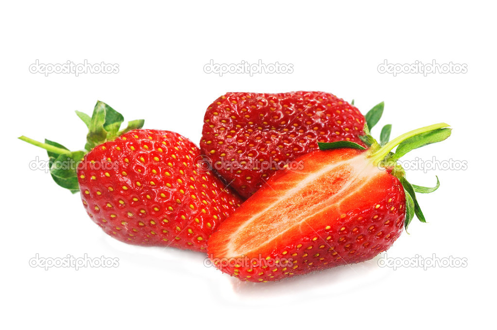 Ripe strawberry, isolated on white  Stock Photo #8916913