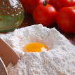 Eggs and flour — Stock Photo