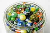 Jar of Marbles — Stock Photo