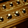 Synthesizer with closeup of modulation — Stock fotografie