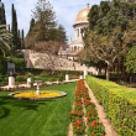 Bahai temple dome in haifa israel — Stock Photo