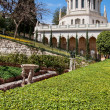 Stock Photo: Baha'i Gardens and temple dome, Haifa, Israel