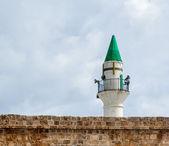 Minaret in Acre — Stock Photo