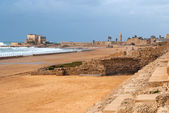Ruins of roman period in caesarea — Stock Photo