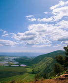 Mount Gilboa view from the top ,Israel — Stock Photo