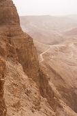 Masada mountain in the haze — Stock Photo