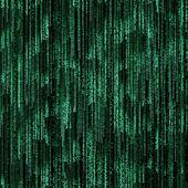 Green binary code on black background — Stock Photo