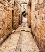 Ancient Alley in Jewish Quarter, Jerusalem — Stock Photo