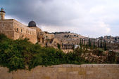 Jerusalem – View on the Mount of Olives from Al-Aqsa mosque — Stock Photo