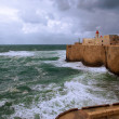 Acre sea wall, Israel — Stock Photo