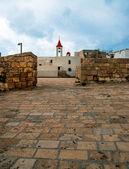 śródziemnomorskiej zabytkowego akki w północnym izraelu — Zdjęcie stockowe